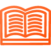 orange book open icon